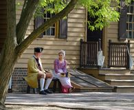 Colonial Re-enactors Stock Image