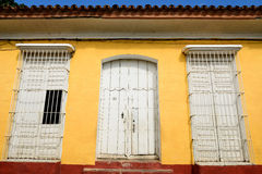 Of colonial remains for Spanish buildings on Cuba in the Trinidad city Royalty Free Stock Image