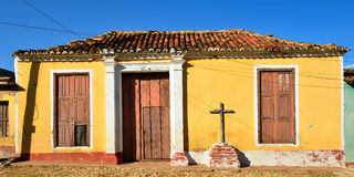 Of colonial remains for Spanish buildings on Cuba in the Trinidad city Stock Image