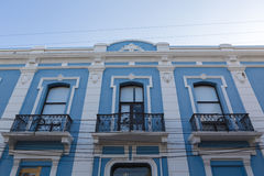 Colonial restored building in Santa Marta, Colombia. Old and restored colonial house in Santa Marta, popular caribbean destination in northern Colombia Royalty Free Stock Photo