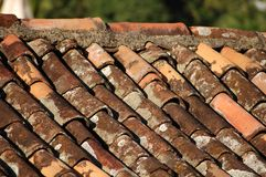 Colonial roof. At olinda city - Brazil royalty free stock photo