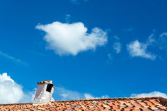 Colonial Roof and Sky Stock Images