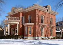 Colonial in Snow Royalty Free Stock Image
