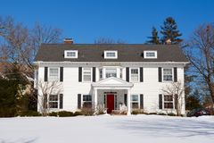 Colonial In Snow Royalty Free Stock Photography