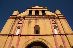Colonial Spanish church facade Royalty Free Stock Images