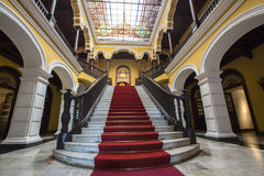 Colonial staircase at Archbishop's Palace in Lima, Peru Royalty Free Stock Images