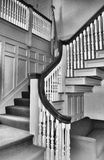Colonial Stairway. This stairway is in a colonial building in Concord, MA Stock Photography