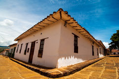 Colonial Street Corner. A street corner in the colonial town of Barichara, Colombia Stock Images