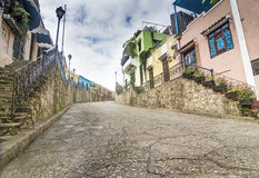 Colonial Street at Dominican Republic Stock Image