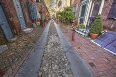 Elfreth`s Alley stock images