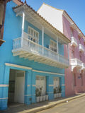 Colonial Style Architecture in Cartagena de Indias Colombia Stock Image