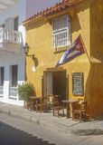Colonial Style Architecture in Cartagena de Indias Colombia Royalty Free Stock Image