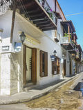 Colonial Style Architecture in Cartagena de Indias Colombia Royalty Free Stock Images