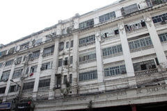 Colonial style building built in 1930, Park Street in Kolkata, Royalty Free Stock Photo