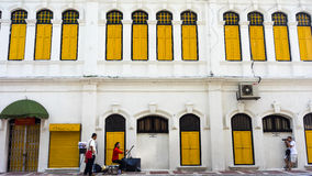 Colonial style building in Kuala Lumpur. KUALA LUMPUR, MALAYSIA - 12TH APRIL 2015; colonial style buildings on downtown street in Kuala Lumpur, Malaysia Stock Image