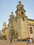 Colonial Style Church in the City of Lima Royalty Free Stock Images