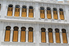 Colonial style Classic windows building Stock Photo