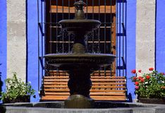 Colonial style and colorful Walls. Typical colonial architecure and colorful spanish style in Arequipa, Peru Stock Photography