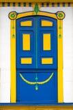 Colonial style door Stock Photos