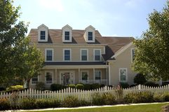 Colonial Style House Stock Photography