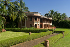 Colonial style resort in South Goa Royalty Free Stock Photos