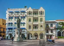 Colonial Style Square in Cartagena Colombia Royalty Free Stock Photography