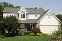 Colonial Style two story home Stock Image