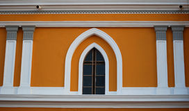 Colonial Style Window Stock Photo