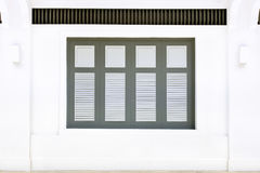 Colonial style windows Royalty Free Stock Photo
