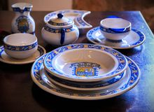 Colonial tableware Royalty Free Stock Images