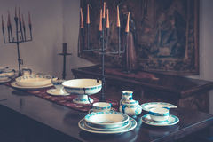 Colonial tableware Stock Image
