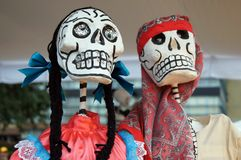 Offerings, skulls, crafts related to the day of the dead in Mexico. Festivity full of colors and traditions that makes us remember royalty free stock photography