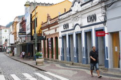 Colonial town Angra dos Reis in Brazil stock photo