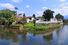 Colonial town in Brazil Royalty Free Stock Photo