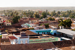 Colonial town cityscape of Trinidad, Cuba. Royalty Free Stock Photo