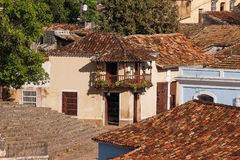 Colonial town cityscape of Trinidad, Cuba. Royalty Free Stock Image