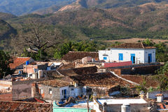 Colonial town cityscape of Trinidad, Cuba. Royalty Free Stock Images