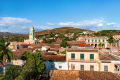 Colonial town cityscape of Trinidad, Cuba. Royalty Free Stock Photography