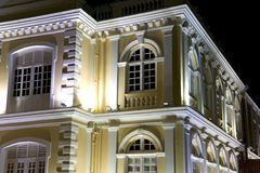 Colonial Town Hall at Night Royalty Free Stock Image