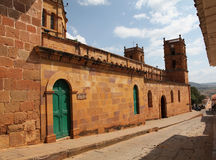 Colonial town. The old city of villa de leyva in colombia Stock Image