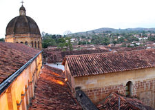 Colonial town. The old city of villa de leyva in colombia Royalty Free Stock Image
