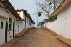 Colonial town. The old city of villa de leyva in colombia Royalty Free Stock Photography