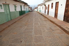 Colonial town. The old city of villa de leyva in colombia Royalty Free Stock Photos