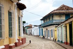 The colonial town of Trinidad in Cuba - 2. Colorful traditional houses in the colonial town of Trinidad in Cuba, UNESCO World Heritage royalty free stock photo