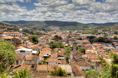 Colonial town. View over the colonial town of Mariana, Brazil Royalty Free Stock Image