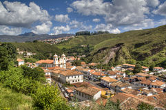 Colonial town. View over the colonial town of Ouro Preto, Brazil Royalty Free Stock Image