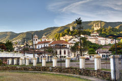Colonial town. View over the colonial town of Ouro Preto, Brazil Royalty Free Stock Photos