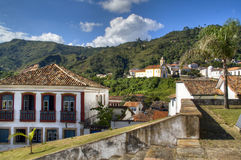 Colonial town. View over the colonial town of Ouro Preto, Brazil Stock Image