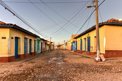 Colonial Trinidad, Cuba. Colorful traditional houses in the colonial town of Trinidad in Cuba, a UNESCO World Heritage site Royalty Free Stock Image