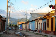 Colonial Trinidad and its old streets, Cuba Royalty Free Stock Photos